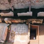 Ancient Roman remains uncovered in 2016 in the site of the Amba Aradam subway station