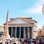 The Pantheon and piazza della Rotonda in Rome, today