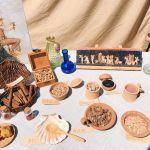 Ancient Roman flavorings featuring at the historical camp set in April 20-22, 2018 at Circus Maximus, during the celebrations of the founding of Rome, in Italy called Natale di Roma