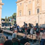 "The arrest of Jesus Christ featuring at the ""Coronation of Rome goddess"" event on the 20th of April 2018 at piazza del Campidoglio to start the celebrations of the founding of Rome, in Italy called Natale di Roma"