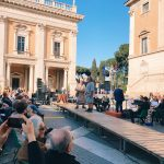 "Romulus and Remus featuring at the ""Coronation of Rome goddess"" event on the 20th of April 2018 at piazza del Campidoglio to start the celebrations of the founding of Rome, in Italy called Natale di Roma"
