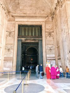 The arrival of the cardinal Gianfranco Ravasi to officiate the religious Mass, on the occasion of the Pentecost ceremony at the Pantheon in Rome