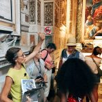 """The visit guided byRoma Experience during the """"Restoring Caravaggio - A VIP Rome Tour Experience"""" on the 1st August 2018, Rome, basilica di Santa Maria del Popolo, Cerasi chapel"""