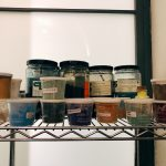 Pigments at the restoration laboratory, Rome