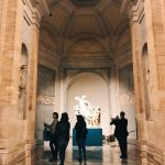 """The set-up of the Laocoön and his Sons for """"Winckelmann. Capolavori diffusi nei Musei Vaticani"""" exhibition at the Vatican Museums"""