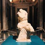 "The set-up of the Belvedere Torso for ""Winckelmann. Capolavori diffusi nei Musei Vaticani"" exhibition at the Vatican Museums"