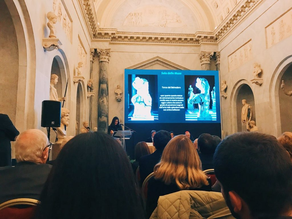 "The speech of the curator Claudia Valeri on the occasion of the inauguration of ""Winckelmann. Capolavori diffusi nei Musei Vaticani"" exhibition at the Vatican Museums, Braccio Nuovo, 8 November 2018"