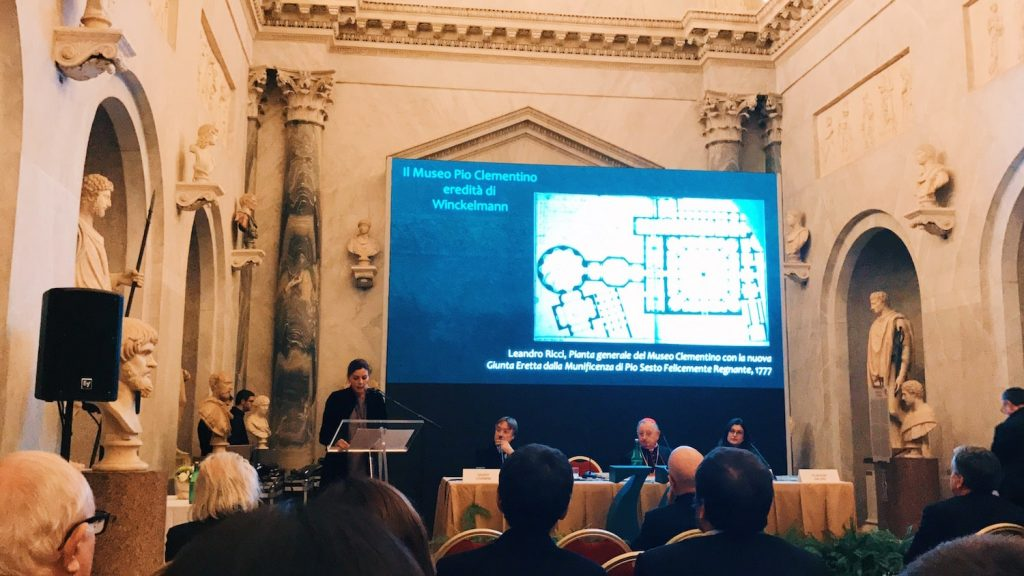 "The speech of the director Barbara Jatta on the occasion of the inauguration of ""Winckelmann. Capolavori diffusi nei Musei Vaticani"" exhibition at the Vatican Museums, Braccio Nuovo, 8 November 2018"