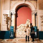 "The set-up of the Sleeping Ariadne for ""Winckelmann. Capolavori diffusi nei Musei Vaticani"" exhibition at the Vatican Museums"