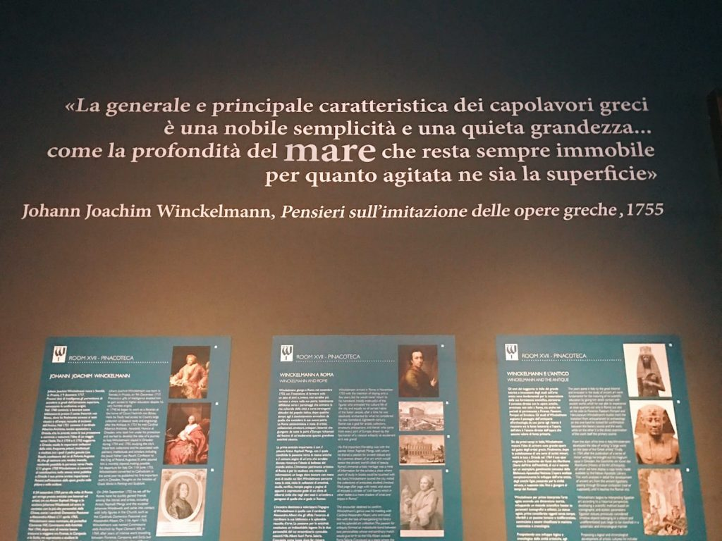 "Multimedia hall of ""Winckelmann. Capolavori diffusi nei Musei Vaticani"" exhibition at the Vatican Museums"