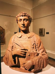 Donato di Niccolò di Betto (Donatello), San Lorenzo, terracotta bust (62 x 47 x 74.5) cm, c. 1440, Kathleen Onorato Peter Silverman collection