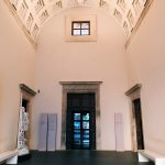 Entrance hall of Palazzo Venezia, characterized by a Renaissance barrel vault, which is the new entry to the museum from piazza Venezia, Rome