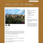 """""""The City of Rome"""" project by Georgetown University in Washington, D.C., United States of America"""