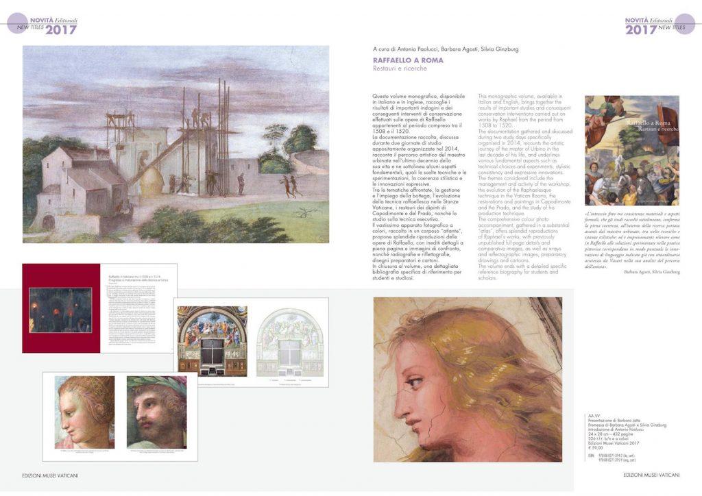 """Presentation of """"Raffaello a Roma. Restauri e ricerche"""", edited byAntonio Paolucci, Barbara Agosti, Silvia Ginzburg, Edizioni Musei Vaticani, 2018"""