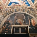 Raffaello Sanzio and helpers, Deliverance of Saint Peter, Stanza di Eliodoro, fresco painting, ca. 1513-1514, Vatican Museums