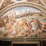 Raffaello Sanzio and helpers, The Battle of Ostia, Stanza dell'Incendio di Borgo, fresco painting, ca. 1514-1515, Vatican Museums