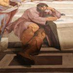 Raffaello Sanzio and helpers, The School of Athens (detail), Stanza della Segnatura, fresco painting, ca. 1509-1511, Vatican Museums