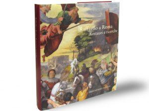 """Cover of """"Raffaello a Roma. Restauri e ricerche"""", edited byAntonio Paolucci, Barbara Agosti, Silvia Ginzburg, Edizioni Musei Vaticani, 2018"""