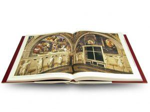 """Interior pages of """"Raffaello a Roma. Restauri e ricerche"""", edited byAntonio Paolucci, Barbara Agosti, Silvia Ginzburg, Edizioni Musei Vaticani, 2018"""