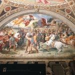 Raffaello Sanzio and helpers, The Meeting of Leo the Great and Attila, Stanza di Eliodoro, fresco painting, ca. 1514, Vatican Museums