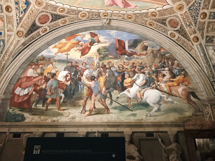 Raffaello Sanzio and helpers, The Meeting of Leo the Great and Attila, Stanza di Eliodoro, fresco painting, ca. 1514, Vatican Museums