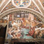 Raffaello Sanzio and helpers, Coronation of Charlemagne, Stanza dell'Incendio di Borgo, fresco painting, ca. 1516-1517, Vatican Museums