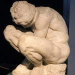 Crouching Boy, attributed to Michelangelo Buonarroti, ca. 1530-1534, marble, height: 54,0 cm, entered the Hermitage in 1851; transferred from the Academy of Fine Arts, Inventory Number: Н.ск-154, Saint Petersburg, The State Hermitage Museum. On view in Rome, at Fondazione Alda Fendi - Esperimenti, 14 December 2018 - 10 March 2019