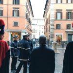 Exit of Senate of the Republic, Palazzo Madama, Rome