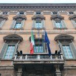 Façade of Palazzo Madama, seat of Senate of the Republic, Rome