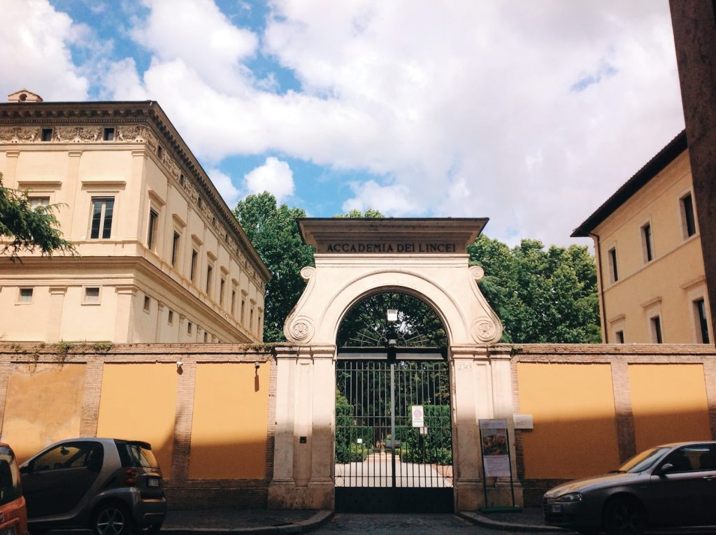 Entrance to Villa Farnesina from Via della Lungara, Rome