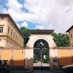 Entrance to Villa Farnesina from Via della Lungara, Rome
