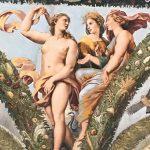 Giulio Romano, Giovanni Francesco Penni, Raffaellin del Colle and Giovanni da Udine, after Raffaello Sanzio's designs, Story of Cupid and Psyche (detail), Loggia di Psiche, Villa Farnesina, Rome