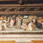 Baldassarre Peruzzi and helpers, Parnassus, ca. 1517-1518, Salone delle Prospettive, northern wall, Villa Farnesina, Rome