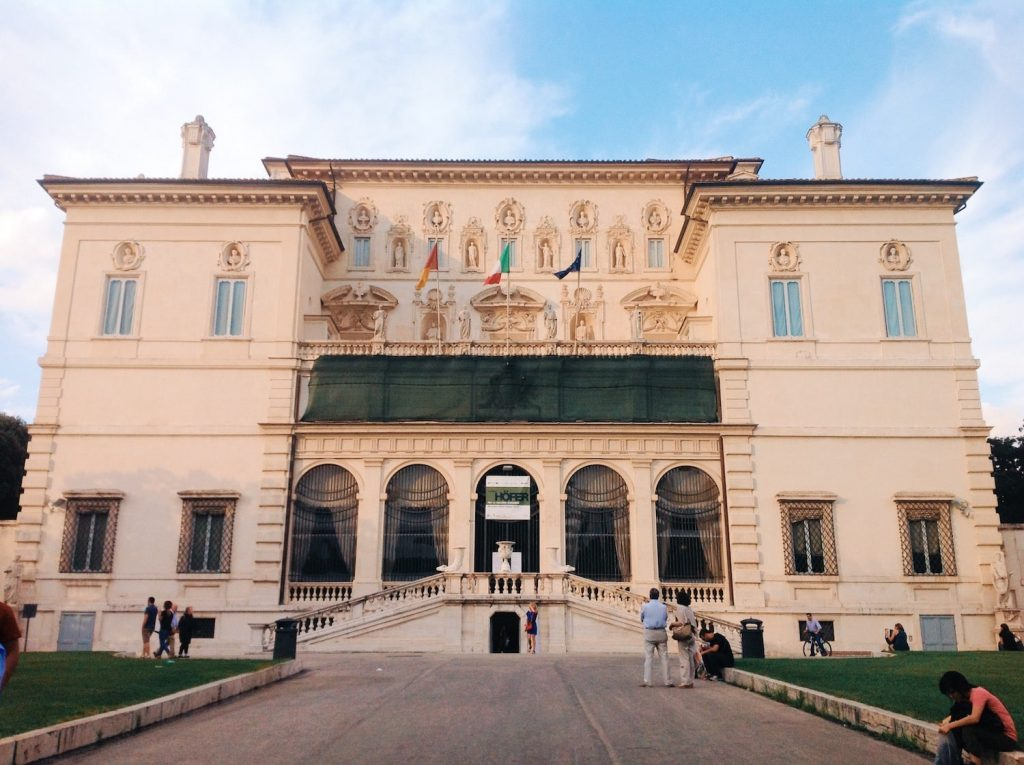 Esterior façade of the Galleria Borghese, Rome