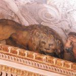 Lion, detail, fresco painting, Rome, Galleria Nazionale d'Arte Antica in Palazzo Barberini, Grand Salon