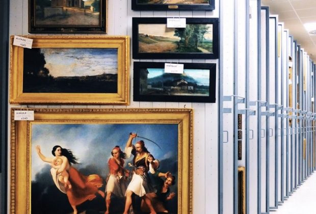 Storages of Galleria Nazionale d'Arte Moderna e Contemporanea in Rome, Photo credit (c) La Galleria Nazionale d'Arte Moderna e Contemporanea