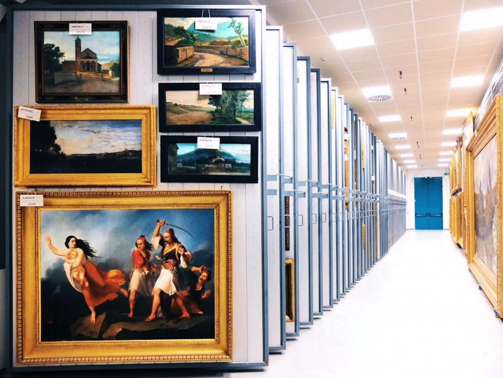Storages of Galleria Nazionale d'Arte Moderna e Contemporanea in Rome