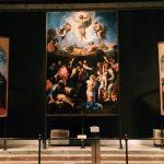 "Raffaello Sanzio, ""Transfiguration"", 1515-1520, mixed tempera on wood, Vatican City, Pinacoteca Vaticana, Vatican Museums"