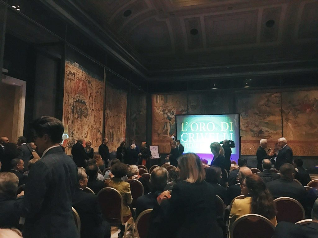 "The inauguration of ""L'oro di Crivelli - Crivelli's gold"" exhibition at the Vatican Museums, Pinacoteca Vaticana, 14 November 2019"