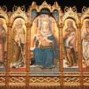 Carlo Crivelli and assistants (?), Madonna and Child with four Saints, 1481, tempera on panel, Inv. 40298. Coming from the church of San Gregorio Magno in Ascoli Piceno. On view in the Room XVII, Vatican Museums, Pinacoteca Vaticana