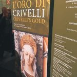 "The entrance to the Room XVII displaying ""L'oro di Crivelli - Crivelli's gold"" exhibition at the Vatican Museums, Pinacoteca Vaticana"