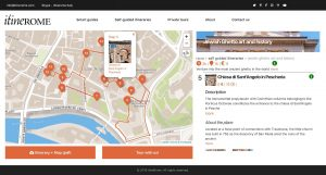 Screenshot of Jewish Ghetto self-guided itinerary on ItineROME portal (desktop version)