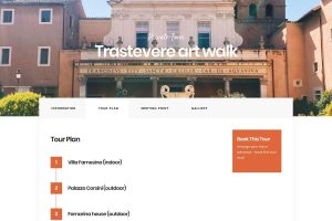 Screenshot of Trastevere private tour plan on ItineROME portal