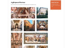 Screenshot of Trastevere private tour preview on ItineROME portal