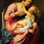 """Artemisia Gentileschi, Madonna and Child, ca. 1610-1613, oil on canvas (116.5 × 86.5) cm, Room IV, also called """"Studiolo grande"""" (big studiolo), Rome, Palazzo Spada, Galleria"""