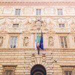 Palazzo Spada façade, stucco decorations by Giulio Mazzoni and others, ca. 1556-1560, Rome