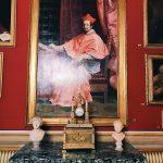 """Guido Reni, Portrait of cardinal Bernardino Spada, Room I, also called """"Stanza dei Papi"""" (Popes room) or """"Stanza del soffitto azzurro"""" (Azure ceiling room), Rome, Palazzo Spada, Galleria"""