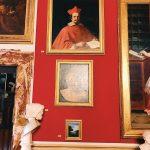 """Guercino, Portrait of cardinal Bernardino Spada, Room I, also called """"Stanza dei Papi"""" (Popes room) or """"Stanza del soffitto azzurro"""" (Azure ceiling room), Rome, Palazzo Spada, Galleria"""