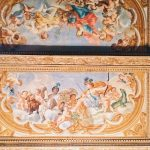 """Michelangelo Ricciolini and helpers, ceiling painting decoration, 1698-1699, Room III, also called """"Galleria del Cardinale"""" (Cardinal's gallery), Rome, Palazzo Spada, Galleria"""