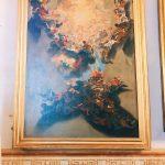"Giovan Battista Gaulli, called il Baciccia, Sketch for the Triumph of the Name of Jesus fresco, Room III, also called ""Galleria del Cardinale"" (Cardinal's gallery), Rome, Palazzo Spada, Galleria"